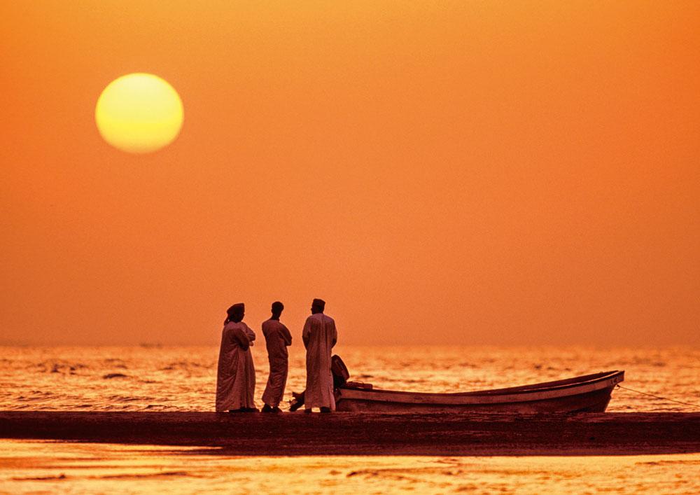 Sonnenuntergang am Golf von Oman