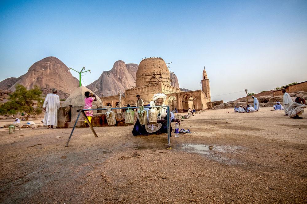 Die Khatmiyah Moschee in Kassala, Sudan