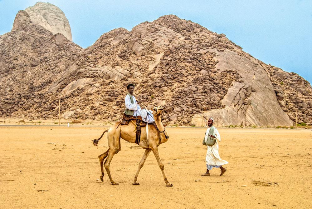Sudanesische Bedscha Nomaden
