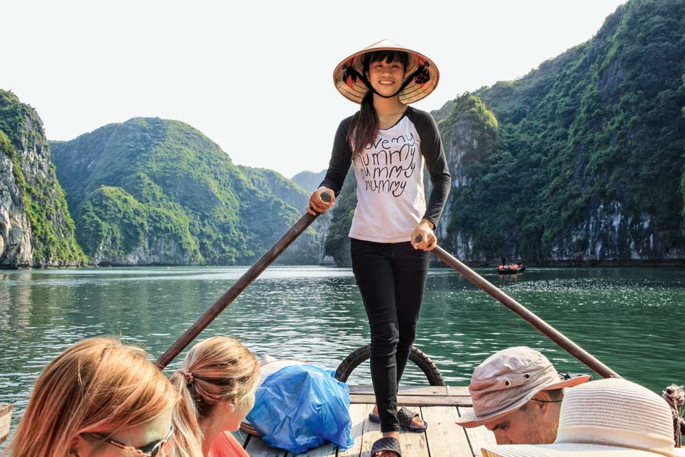 Quyen in der Halong Bucht, Vietnam