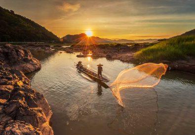 Fischer am Mekong