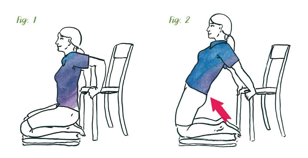Oberschenkeldehnung und Gesäßmuskeltraining – Rückenschule für gesundes Leben